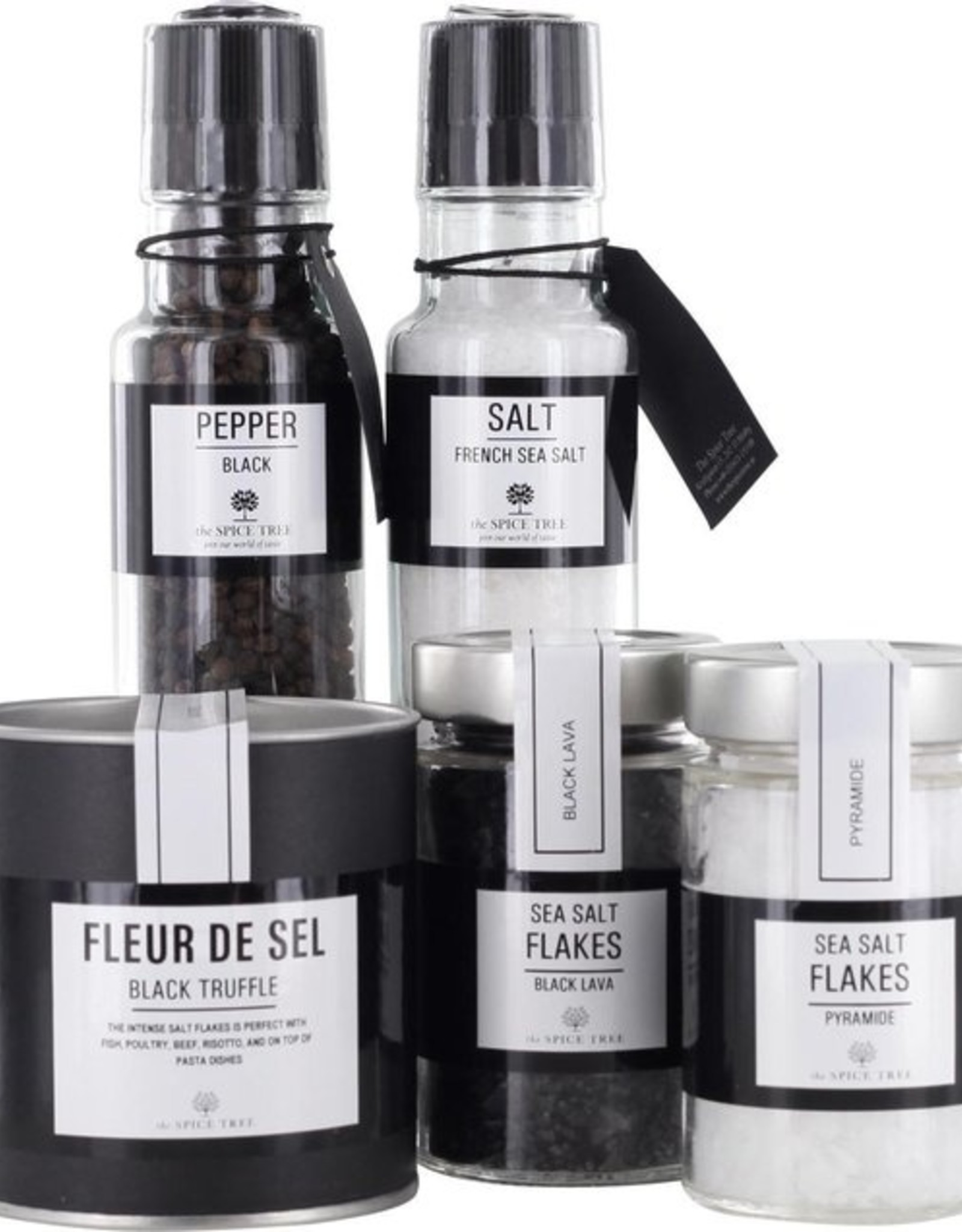 The Spice Tree - Zoutpakket - Wit Zout - Zwart Zout - Fleur de Sel Truffel
