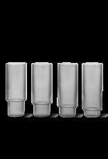 Ferm Living Ferm Living Ripple Longdrinkglas - Set van 4 - smoked grey