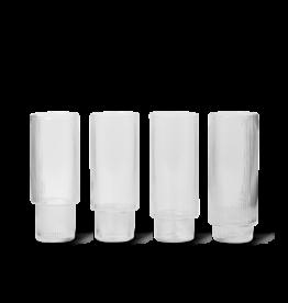 Ferm Living Ferm Living Ripple Longdrinkglas - Set van 4 - helder