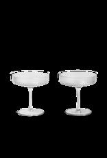 Ferm Living Ferm Living Ripple Glass Champagneglas- Set van 2