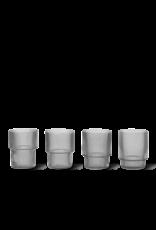 Ferm Living Ferm Living Ripple Glas geribbeld set van 4 grijs