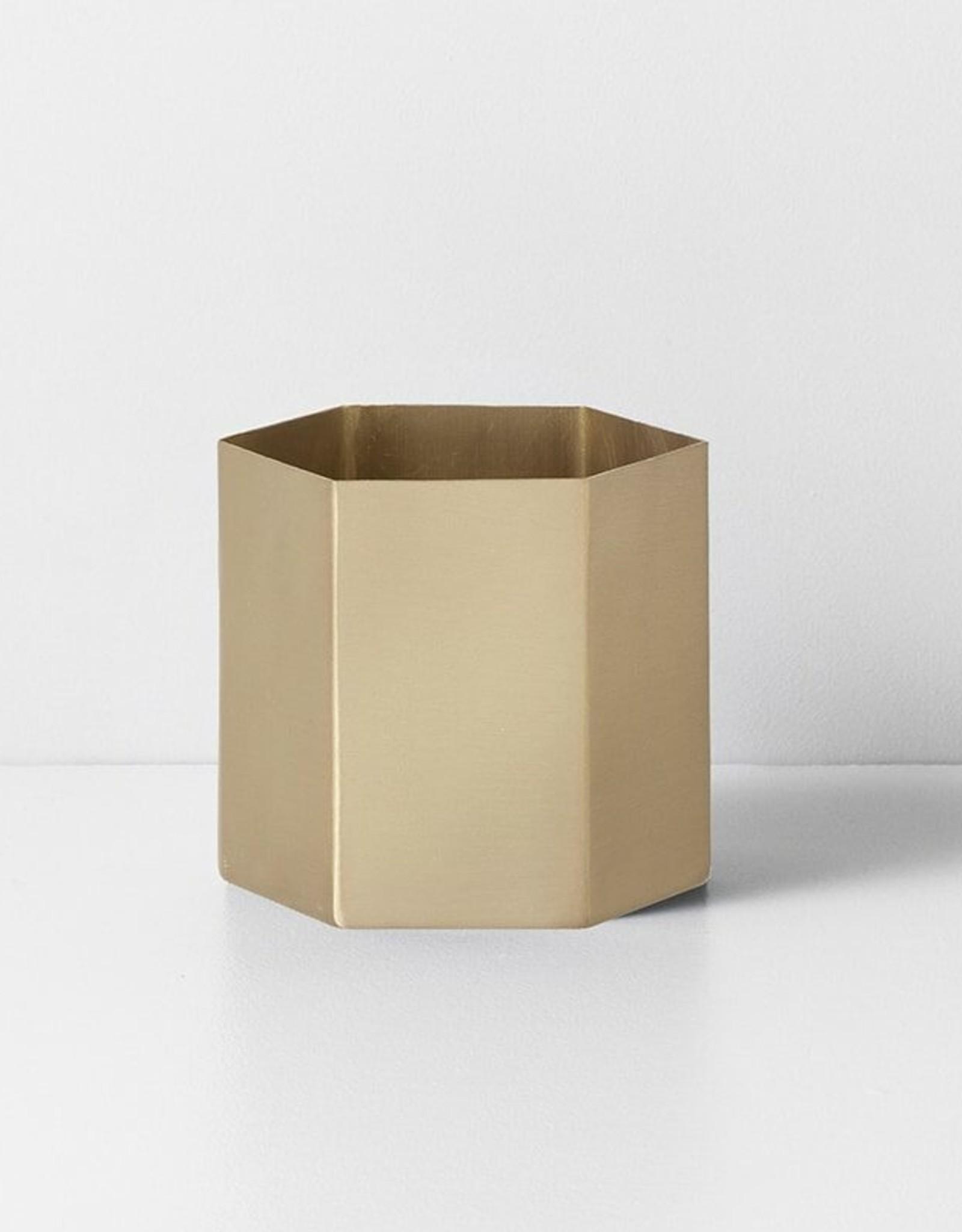 Ferm Living Ferm Living Hexagon Pot Large goud
