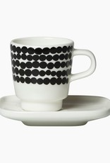 Marimekko Marimekko Siirtolap Espresso Tas met ondertas