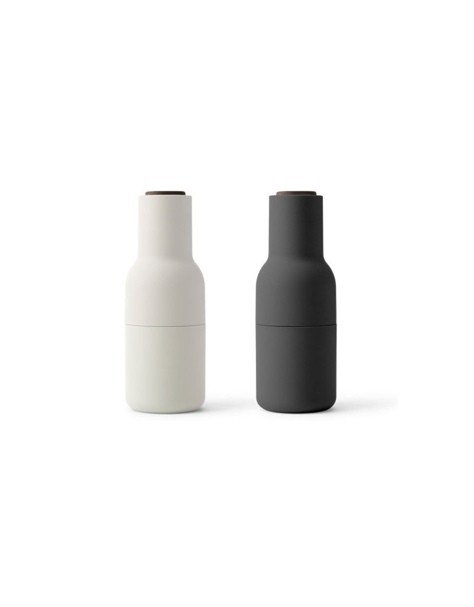 Menu-Bottle grinder Peper-en zoutmolen ash/carbon walnoot