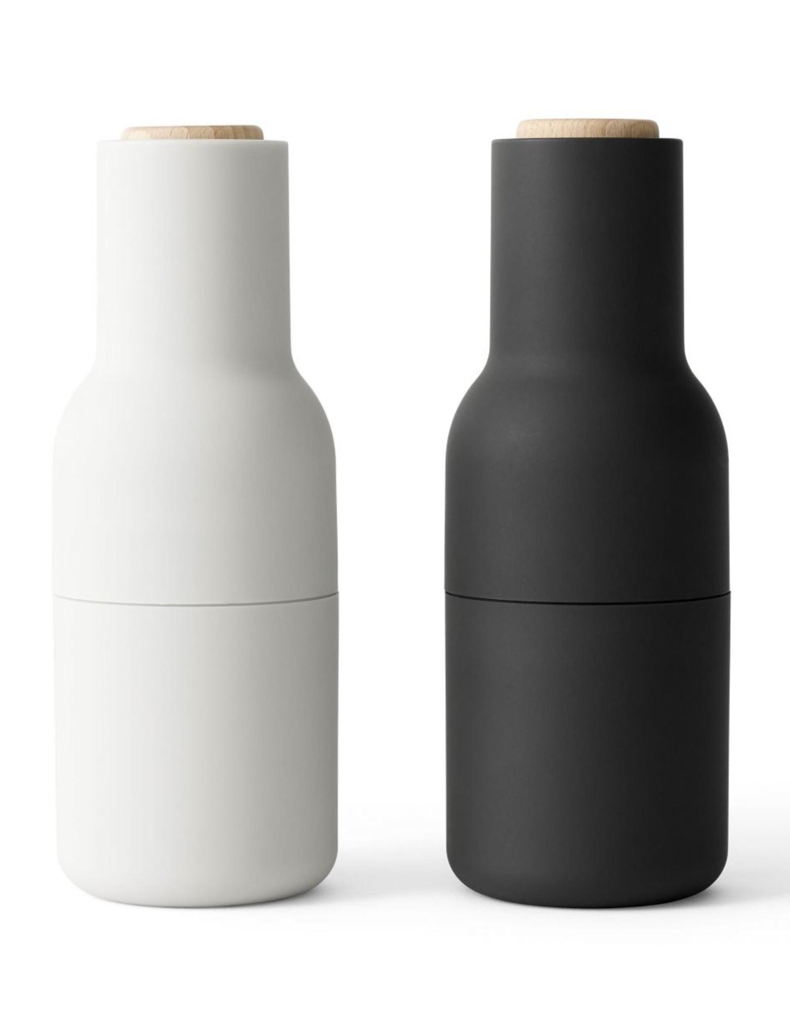Menu - Bottle grinder - Peper-en Zoutmolen - Ash - Carbon - Beuk - Set van 2