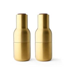 Menu - Bottle Grinder - Peper- en zoutmolen - Brushed Brass (Messing) - Set van 2