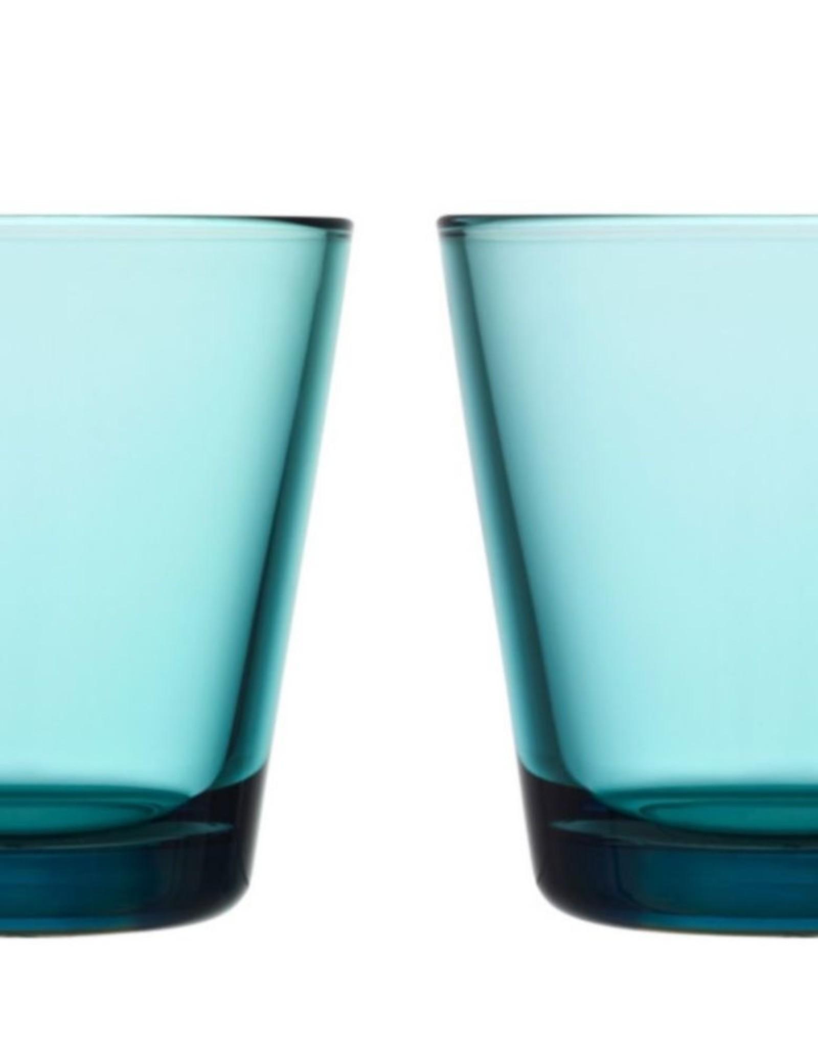 Iittala Iittala Kartio Glas - 21 cl - Zeeblauw - 2 stuks
