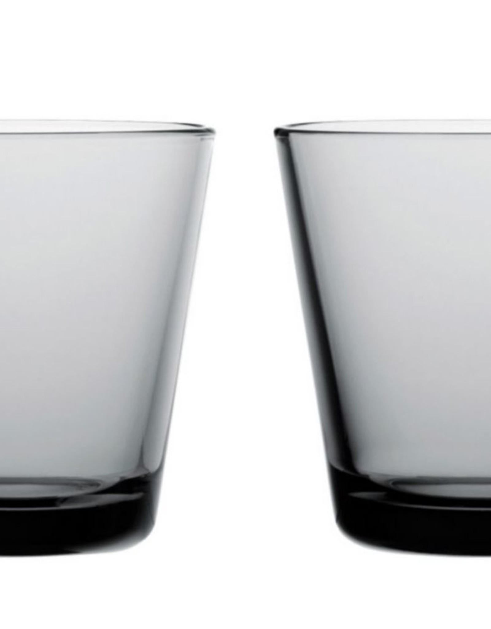 Iittala Iittala Kartio Glas - 21 cl - Grijs - 2 stuks