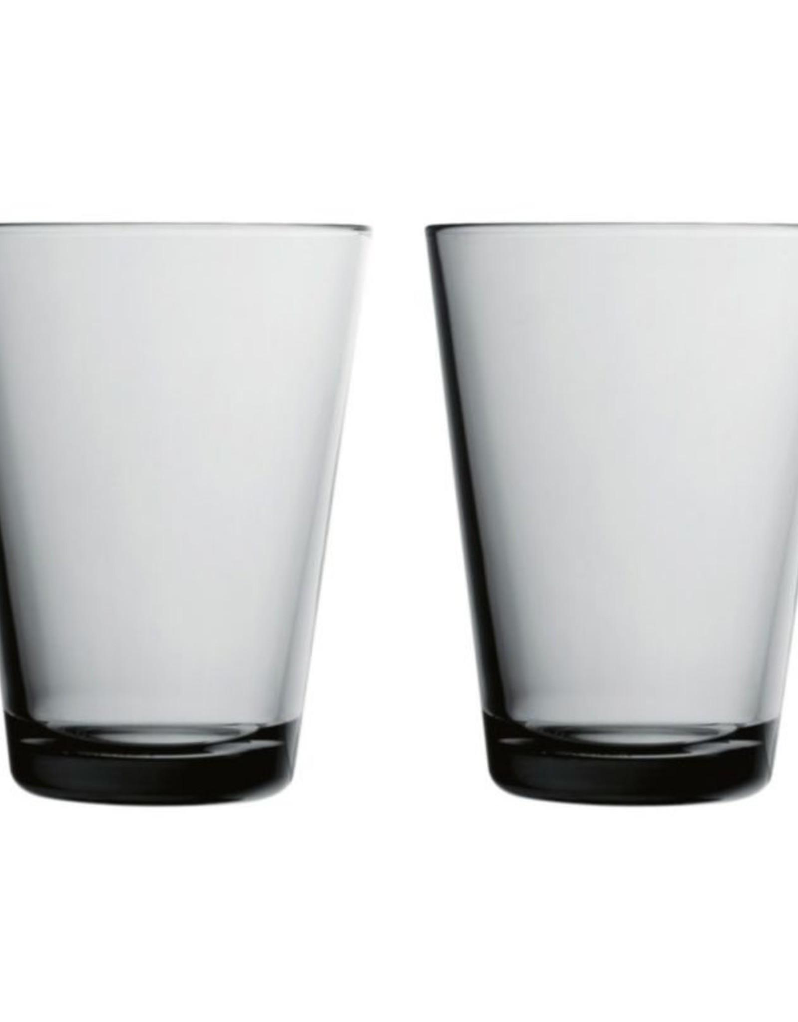 Iittala Iittala Kartio - Glas - 40 cl - Grijs - 2 stuks