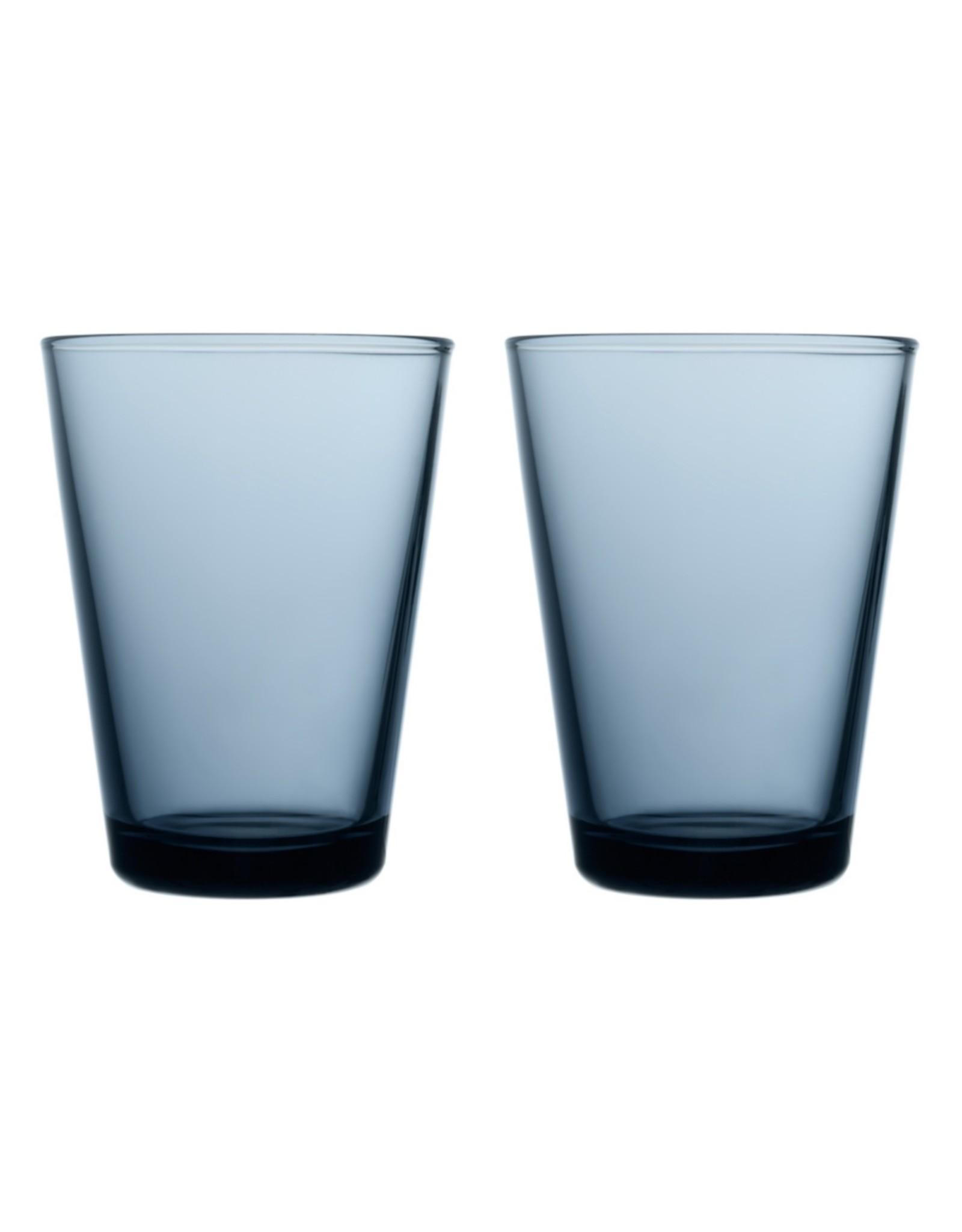 Iittala Iittala Kartio - Glas - 40 cl - Regenblauw - 2 stuks