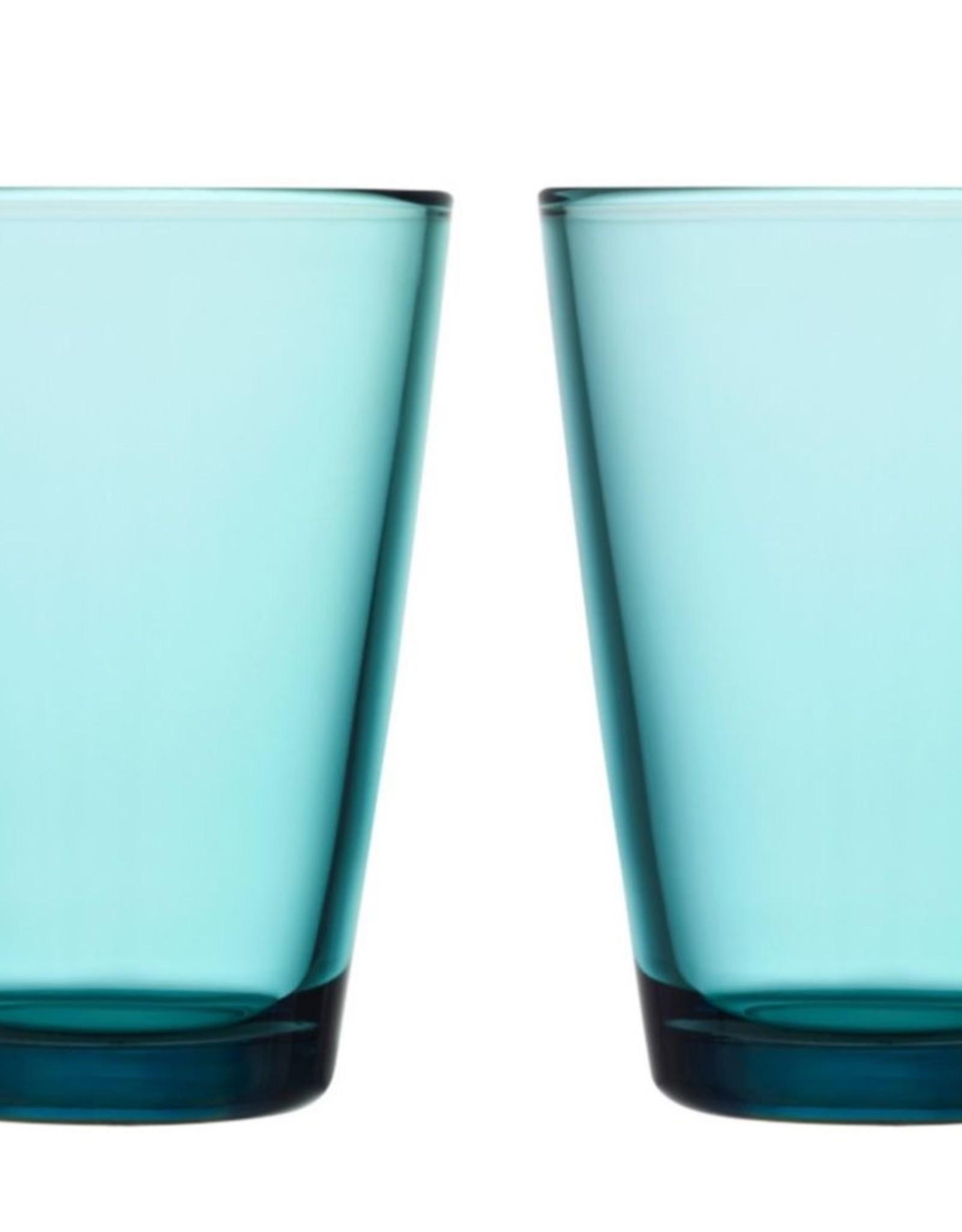 Iittala Iittala Kartio - Glas - 40 cl - Zeeblauw - 2 stuks