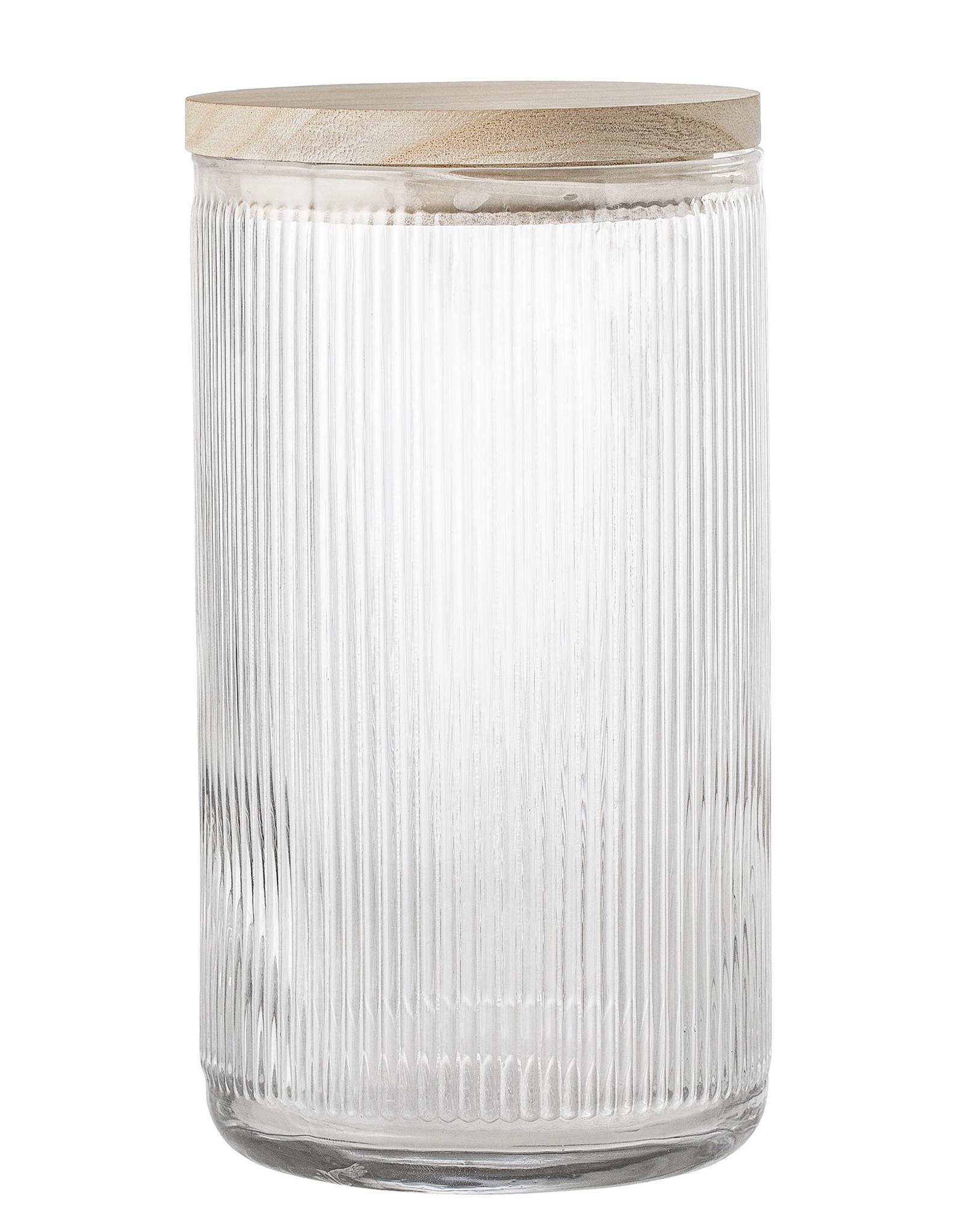 Bloomingville Bloomingville Hona Voorraadpot Glas-Hout