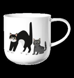ASA ASA Coppa Katten en Honden Kop Katten Porselein Wit