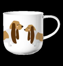 ASA ASA Coppa Katten en Honden Kop Basset Hound Porselein Wit