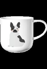 ASA ASA Coppa Katten en Honden Kop Franse Bulldog Porselein Wit