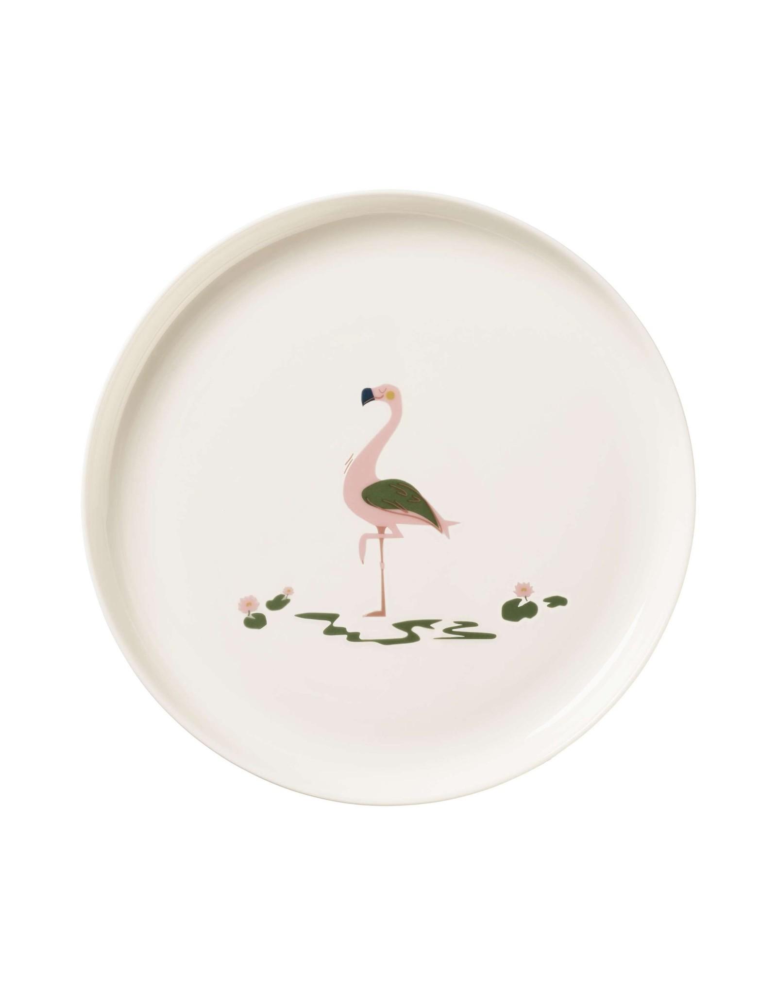 ASA ASA Kids 5-delig Kinderservies Fiona Flamingo Porselein Wit