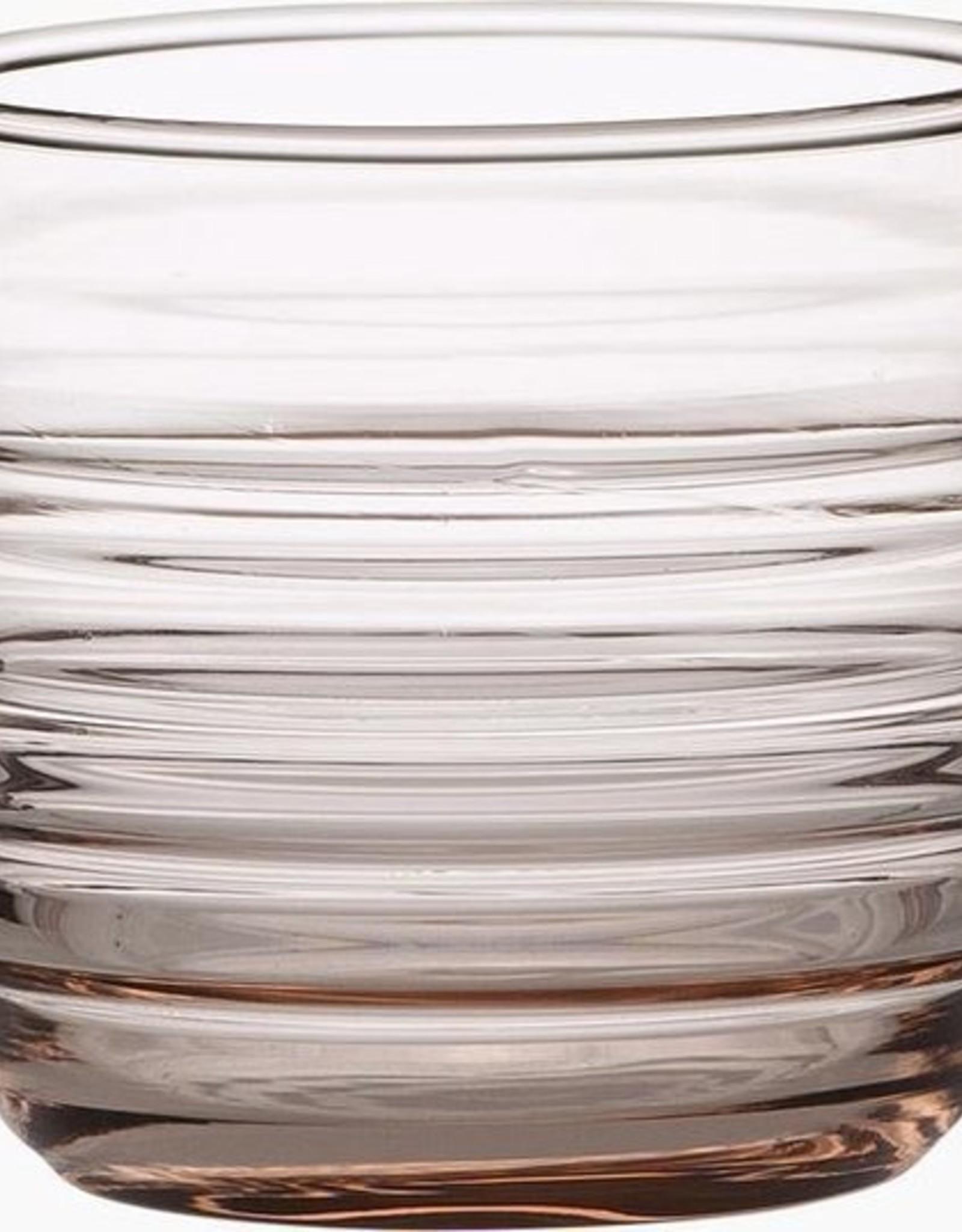 Marimekko Marimekko set van 2 tumblers of waterglazen in koraalkleurig glas 'Sukat Makkaralla'