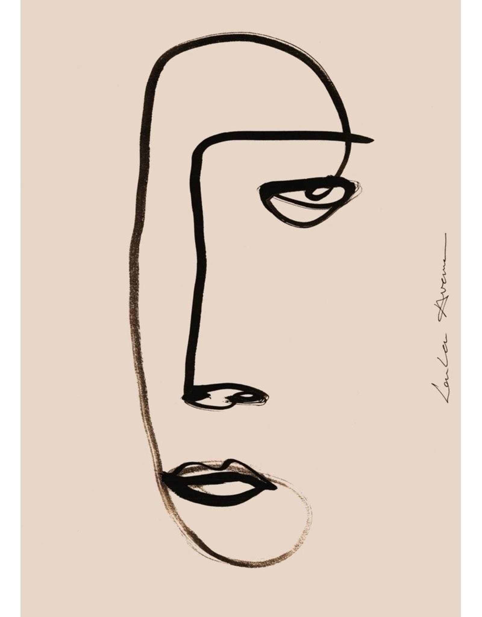 Paper Collective Paper Collective Poster Loulou Avenue Serious Dreamer 30x40cm