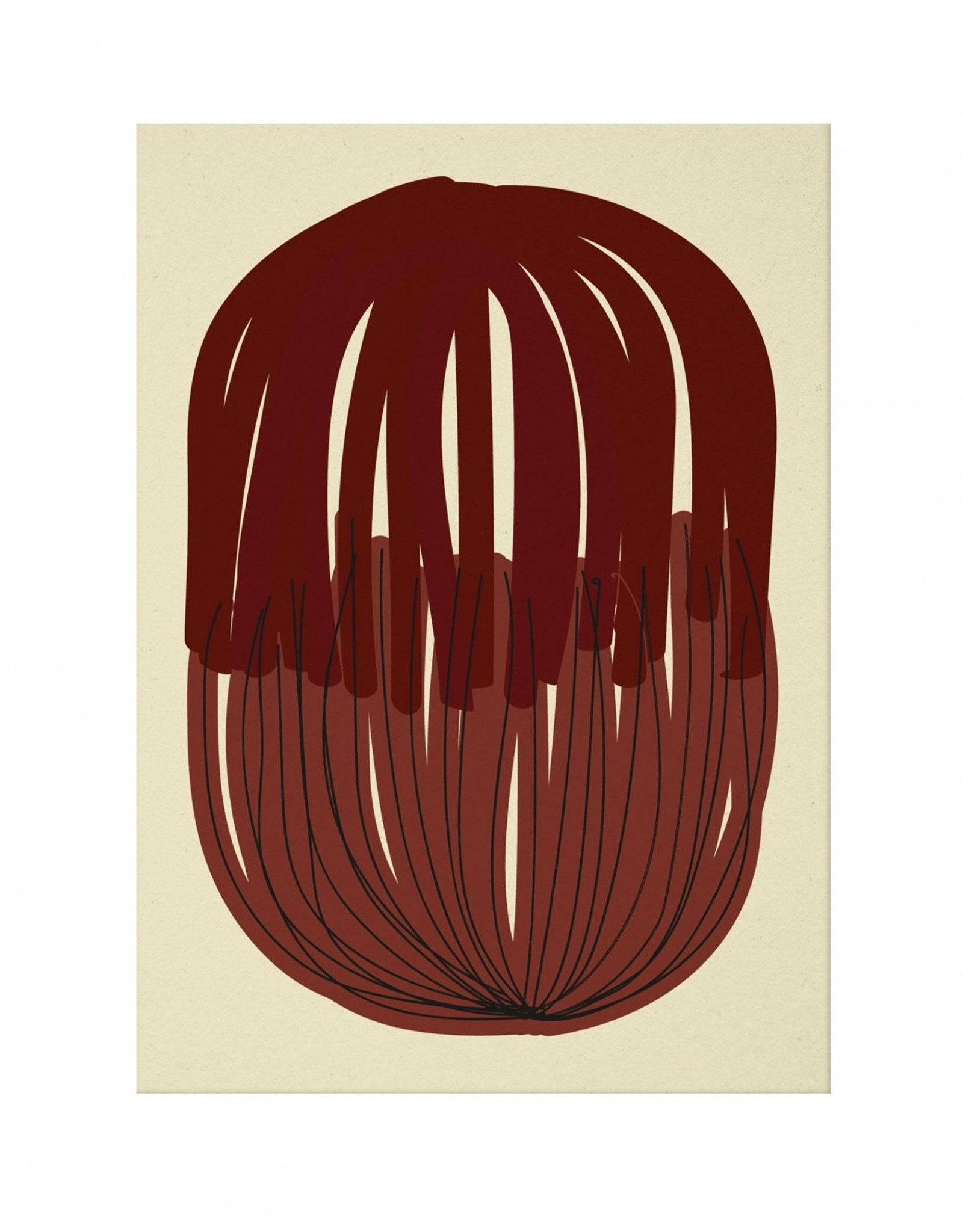 Paper Collective Paper Collective Poster Nina Bruun Stacked Lines 01 30x40cm