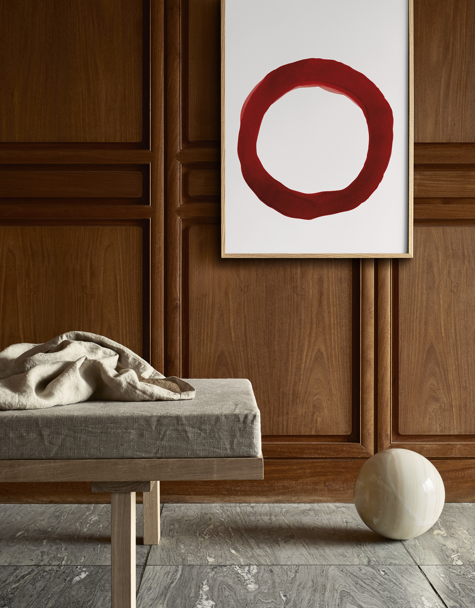 Paper Collective Paper Collective Poster Norm Architects Enso Red IV 50x70