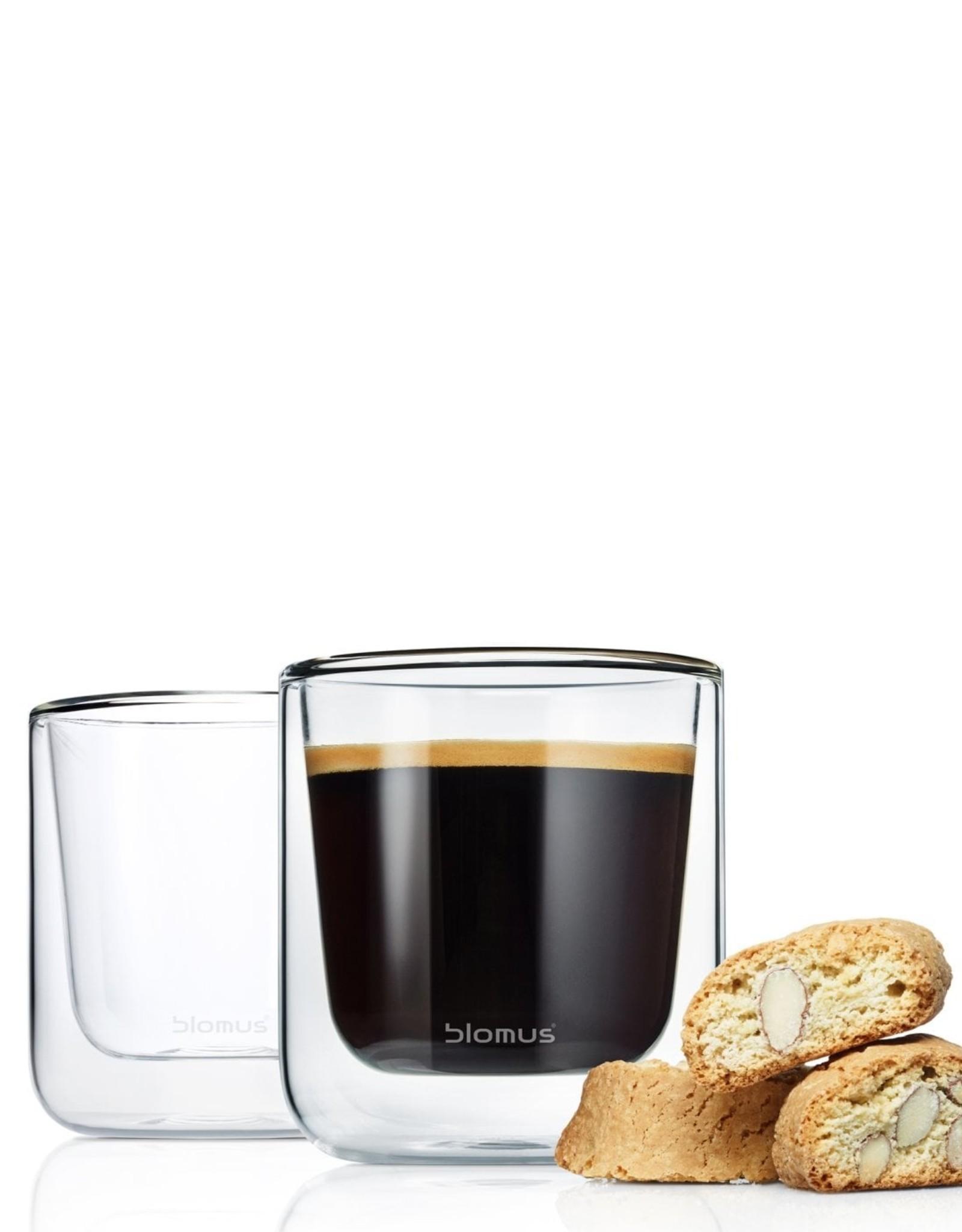 Blomus Blomus Dubbelwandige Glazen Koffie Nero 20 cl - 2 Stuks