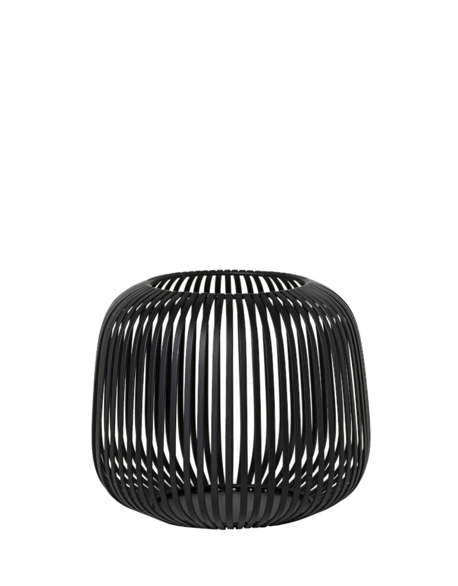 Blomus BLOMUS - LITO windlicht / lantaarn zwart staal Ø20,5 cm Small