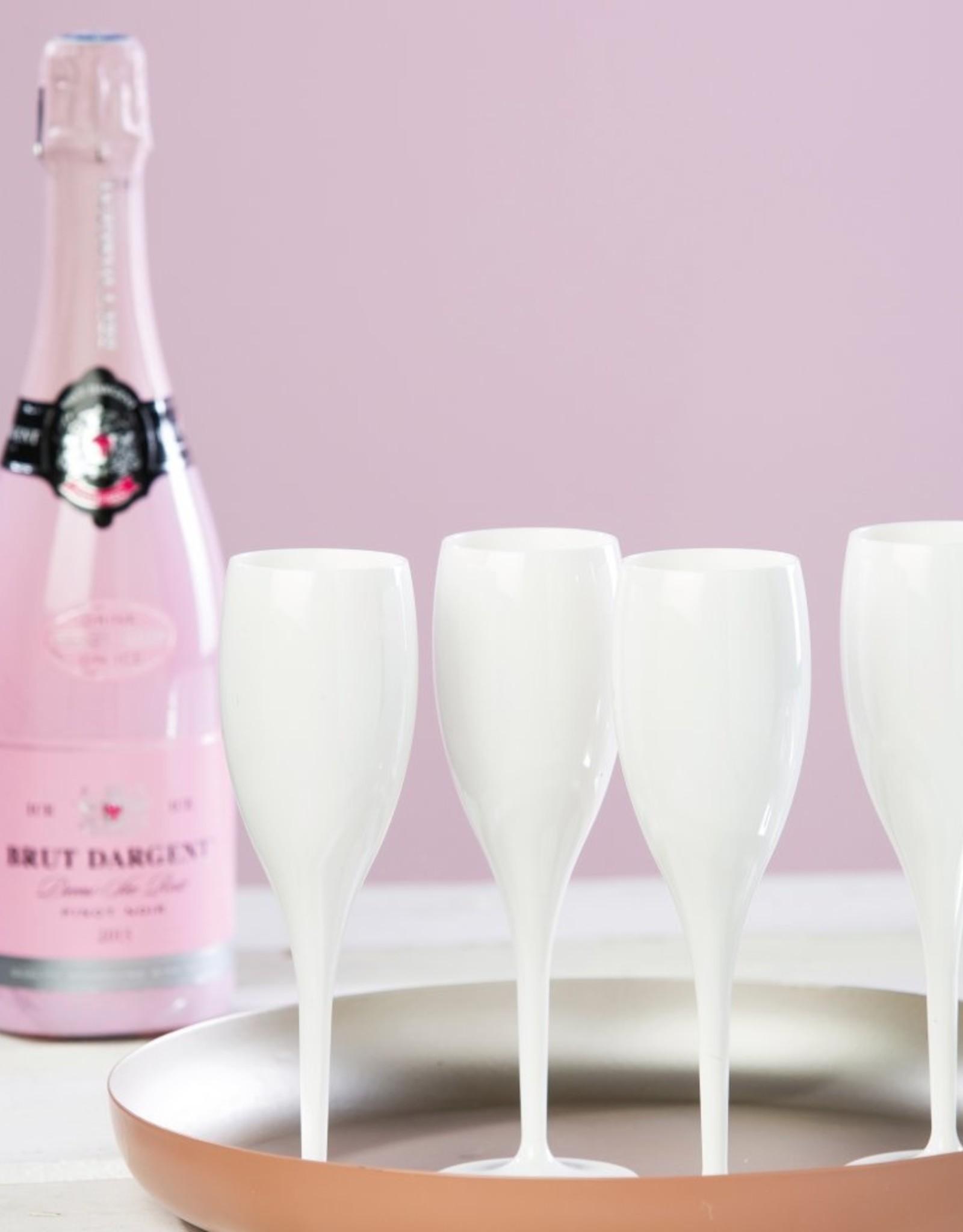 Koziol Koziol Champagneglas - Cheers No. 1 Superglas - 100 ml - Wit Cotton