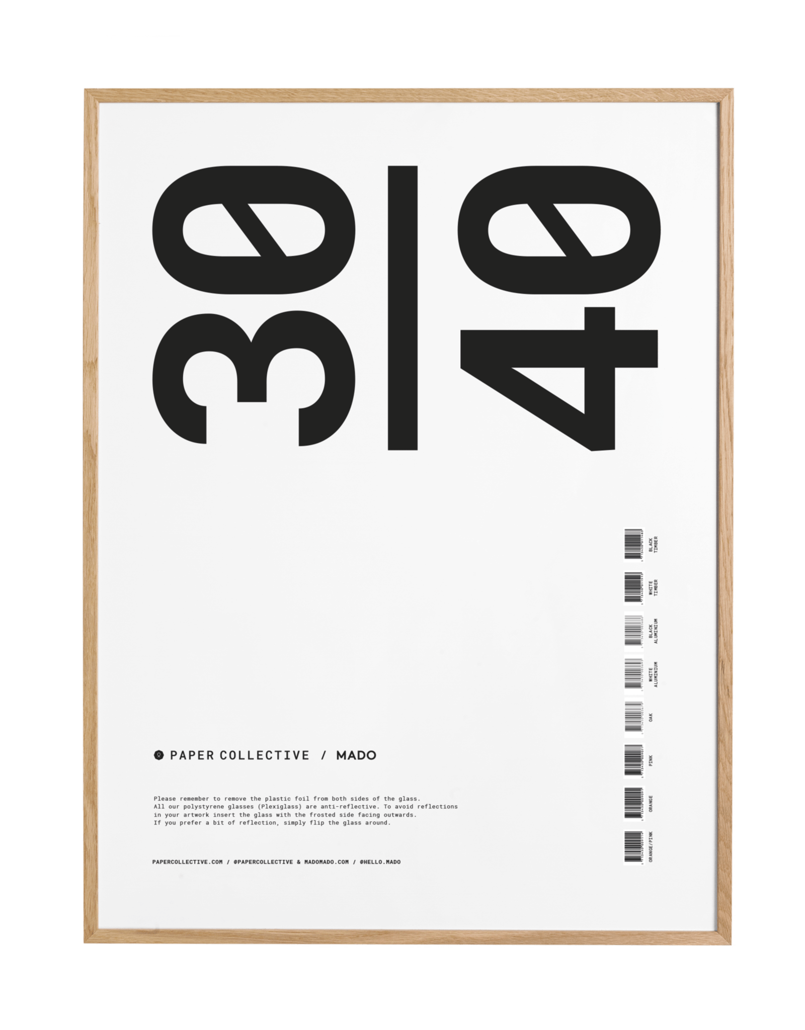 Paper Collective Paper Collective Frames Oak 30x40cm