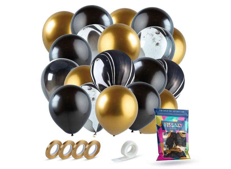 Goud, Zwart & Marmer Ballonnen