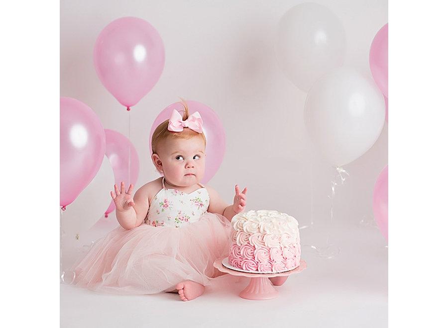 Fissaly® 40 Stuks Roze & Witte Latex Ballonnen met Accessoires