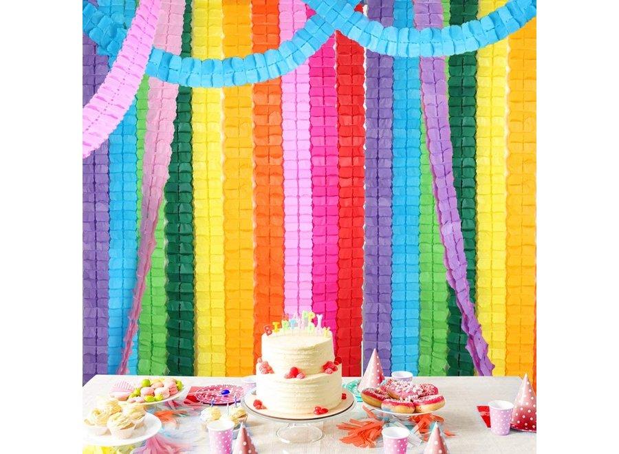 Fissaly® 16 Stuks Papieren Slingers Verjaardag Versiering Gekleurd