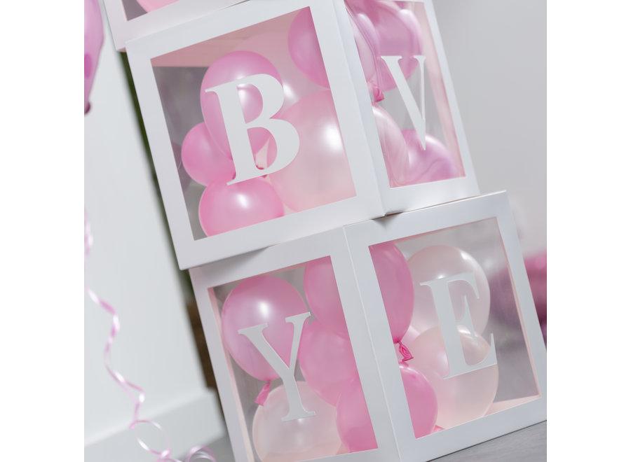 Fissaly® 58 Stuks Babyshower Meisje & Gender Reveal Versiering Dozen