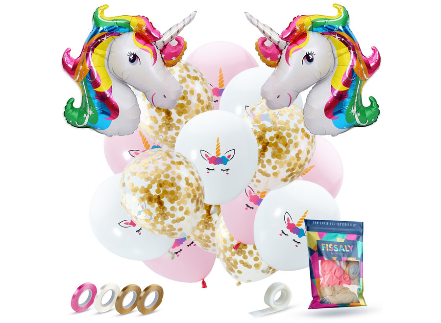 37 Stuks Eenhoorn Decoratie Helium Ballonnen met Lint