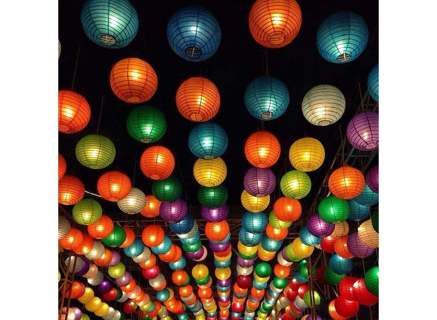 20 Stuks Gekleurde Lampionnen Feest Versiering