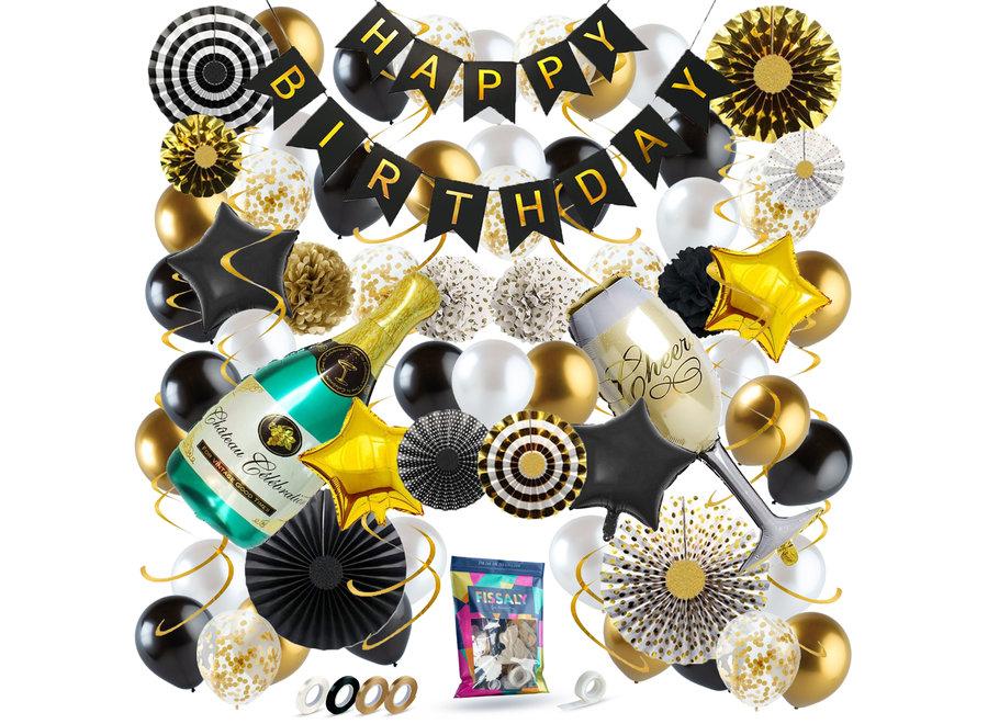 Happy Birthday Champagne Decoratieset