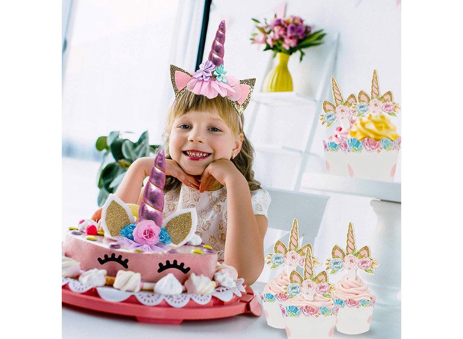 53 Stuks Roze Eenhoorn Verjaardag Decoratie Versiering - Unicorn