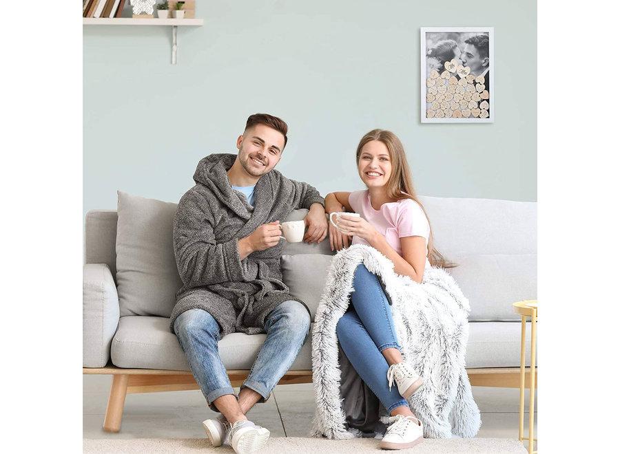 Bruiloft & Huwelijk Gastenboek met 100 Stuks Houten Hartjes