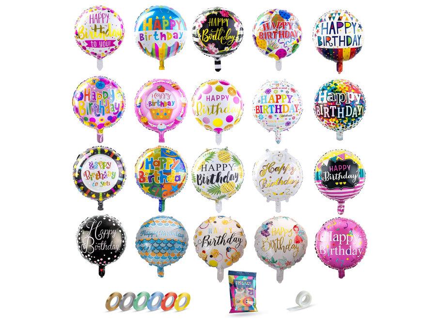 Happy Birthday Folie Ballonnen