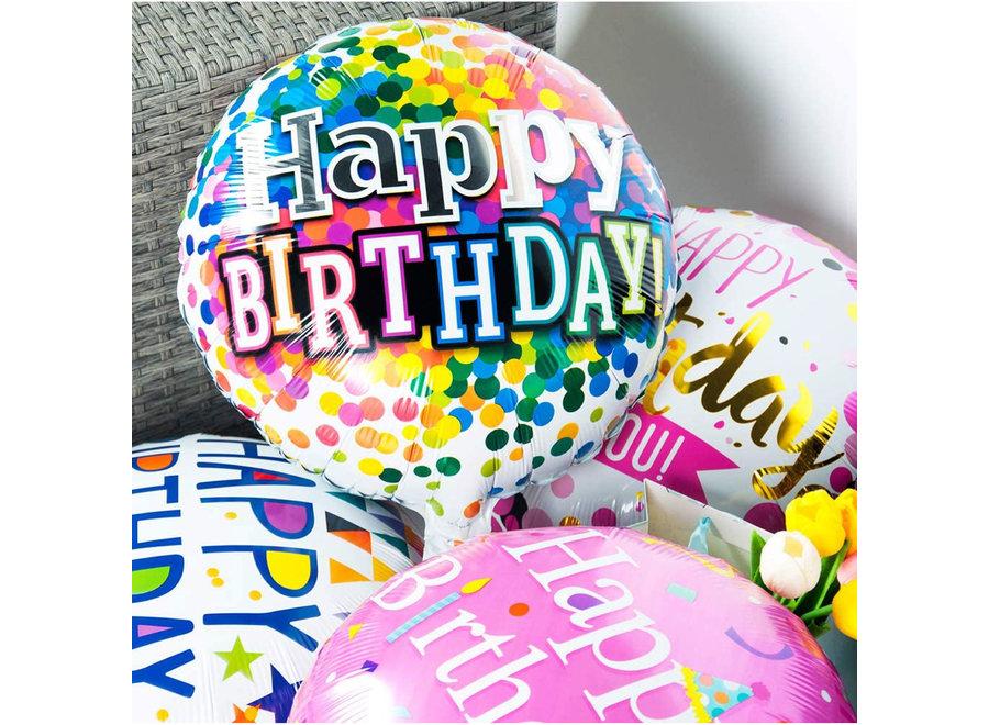 Fissaly® 20 Stuks Happy Birthday Verjaardag Folie Ballonnen