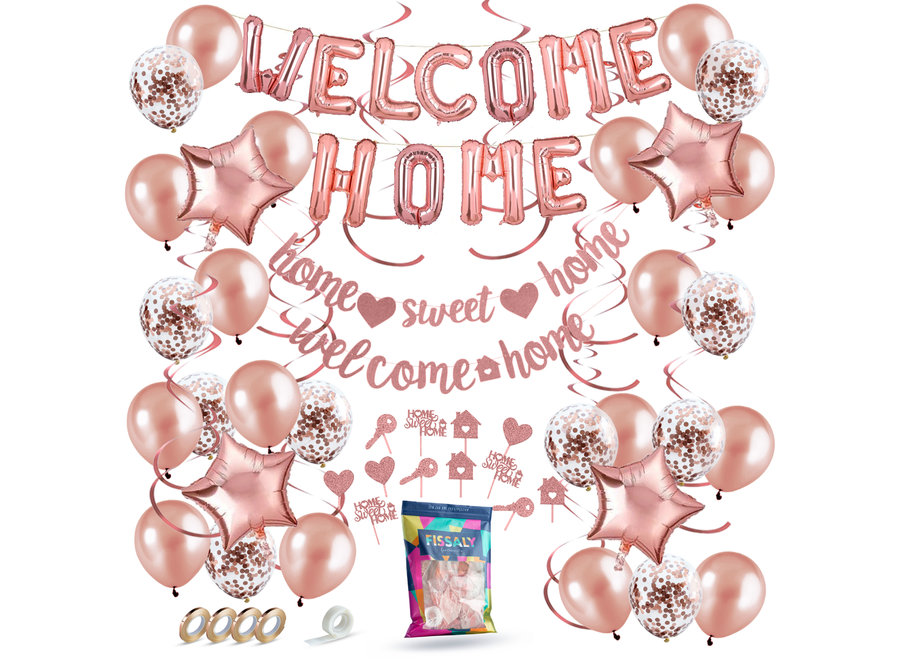Welkom Thuis Rose Goud Versiering – Welcome Home Decoratie - Suprise Party