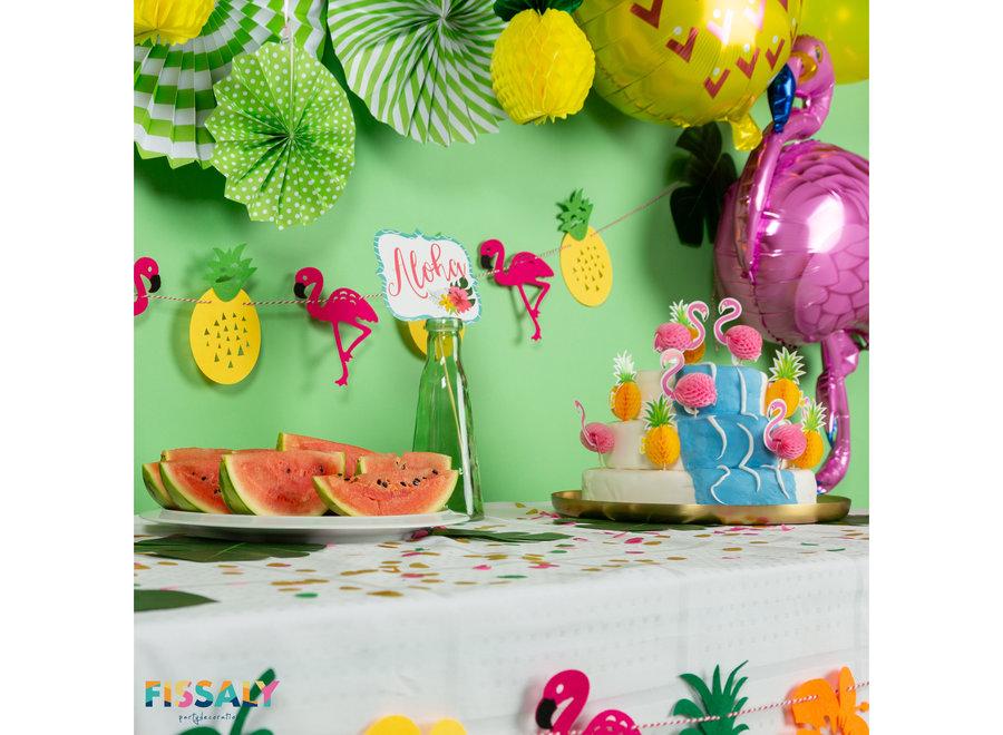 128 Stuks Hawaii Flamingo & Ananas Feest Decoratie