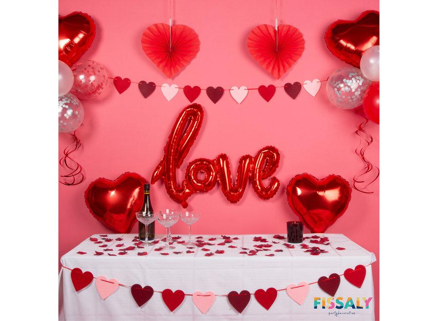 Fissaly® 89 Stuks Liefde & Hartjes Decoratieset