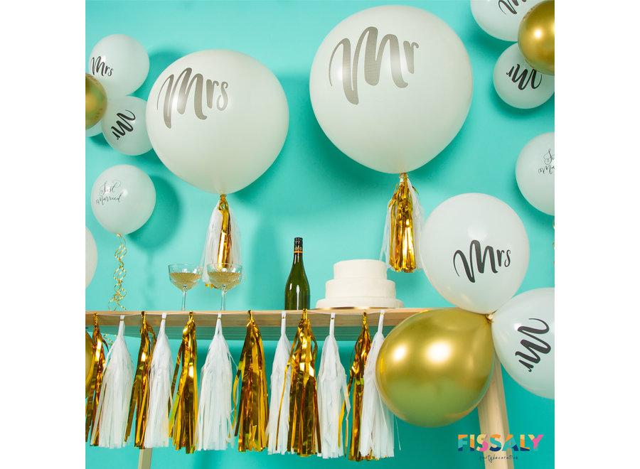 Mr & Mrs Just Married Bruiloft Decoratie Versiering Set – Huwelijk & Trouwen – Trouwfeest & Trouwdag
