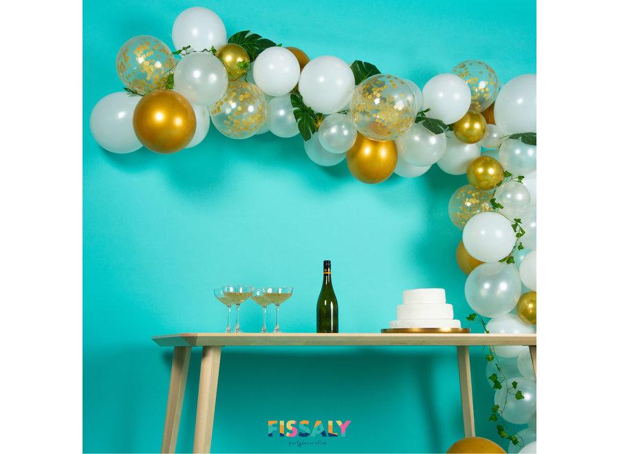 Ballonnenboog Wit, Goud & Groen – Ballonboog