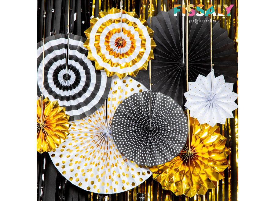 Fissaly® 68 stuks Zwart & Goud XL Decoratie Feestpakket Versiering