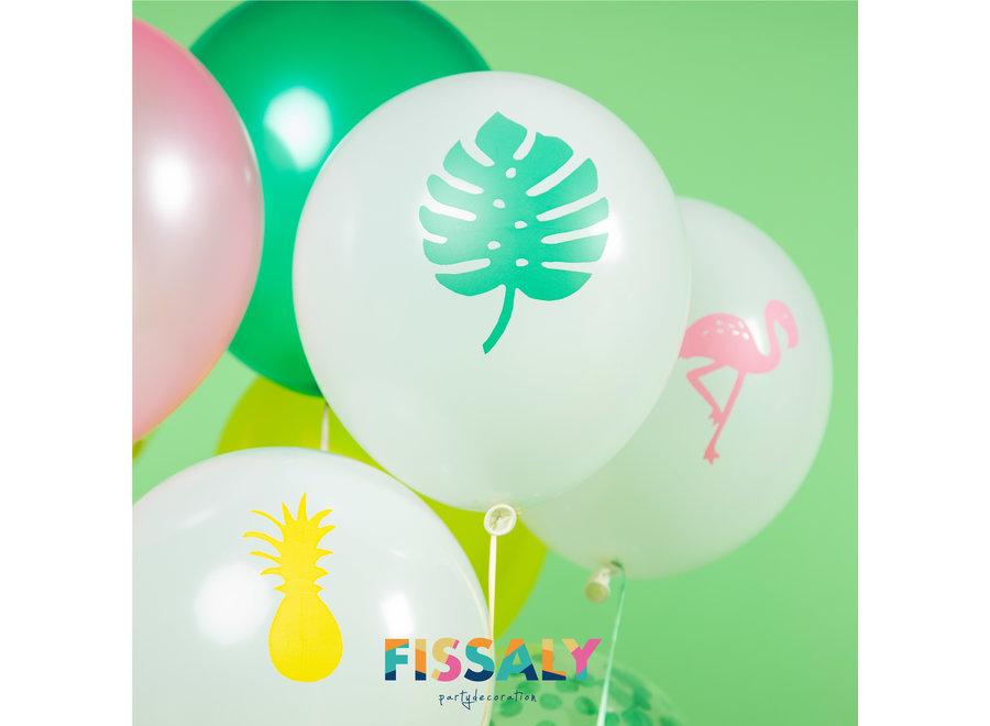 45 Stuks Hawaii Tropical Party Decoratie – Flamingo, Ananas & Tropische Bladeren Versiering