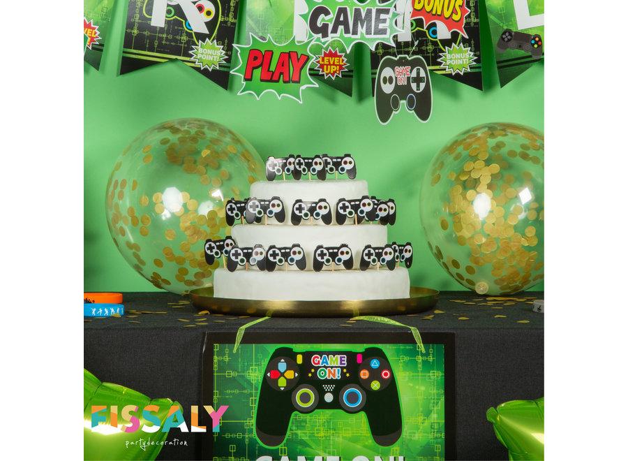 91 Stuks Video Game Verjaardag Versiering Set met Fortnite Dansjes Ballonnen