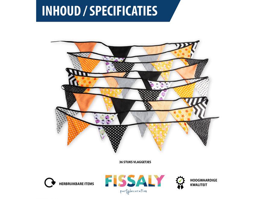 Fissaly® Verjaardag Stoffen Vlaggetjes Slinger – Decoratie – Happy Birthday