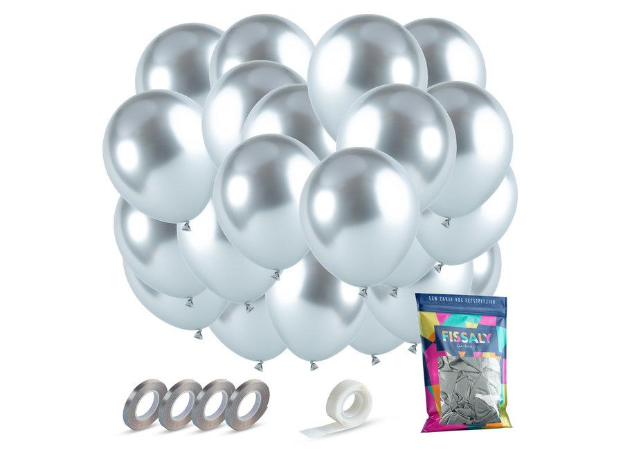Zilveren Chrome Helium Latex Ballonnen