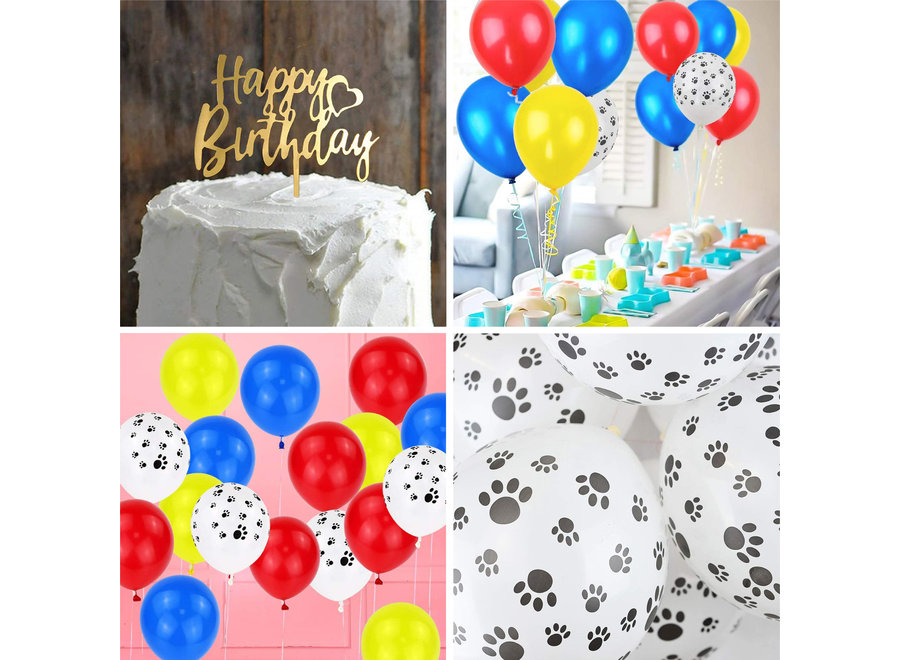 77 Stuks Honden Thema Verjaardag Versiering